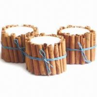 China Cinnamon Candle with Silk Ribbon on sale