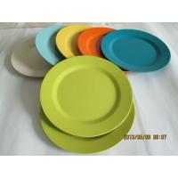 Best Eco Bamboo Fiber Dinnerware Camping Small Plate wholesale