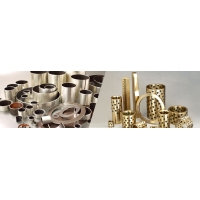 copper based oilless bearing for heavy load applications into which solid lubricant plugs are embedded