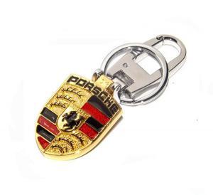 China Porsche Roadster brand logo metal key ring,Porsche car logo brand key chains,11x4.5cm,45g on sale
