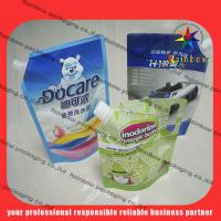 Best lovely detergent spout pouch packaging with hang hole wholesale