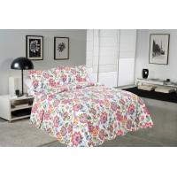 Best Cockscomb Flower Double Bed Quilt Covers , Microfiber Fabric Quilt Cover Sets wholesale