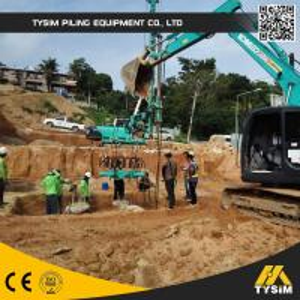 China 30MPa 280kN concrete Hydraulic Pile Breaker , cropper foundation pile machine on sale