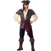 Best 2016 costumes wholesale high quality fancy dress carnival sexy costumes for halloween party Rustic Pirate wholesale