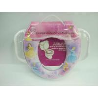 China kids soft toilet seat with handle on sale