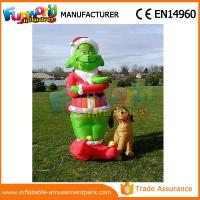 Best Mini Oxford cloth Green Airblown Inflatable Grinch Inflatable Christmas Grinch With Dog wholesale