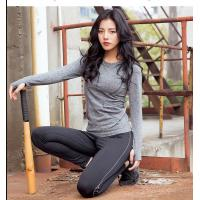 Best O - Neck Top Vest Womens Long Sleeved Gym Top Running Base Layer Hand / Machine Wash wholesale