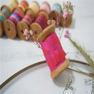 Best 55-174 variegated silk ribbon,multicolor ribbon,rainbow 100% silk ribbon,ribbon,embroidery ribbon wholesale