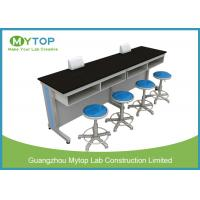 China Steel And Wood Physical Laboratory Work Benches / School Lab Working Table on sale