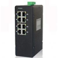 Best 8-port unmanaged 10/100/1000M industrial Ethernet switch, DIN rail, double power supply wholesale