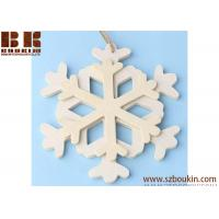 Best Unfinished Wood Layered Snowflake Ornament Christmas tree ornaments Holidays Gift Ornament wholesale