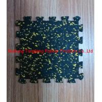 China EPDM color flecks interlock rubber sheet on sale