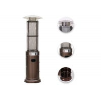 Best Outdoor free standing Silver Stainless Steel Cylindrical bullet gas patio heater wholesale