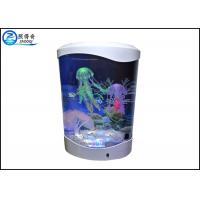 Best 4L Desktop Jellyfish Custom Fish Tanks Colorfull LED Lights With Silicone Ornaments wholesale
