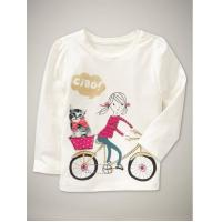 China gapbb long t-shirt  children girl t-shirt on sale