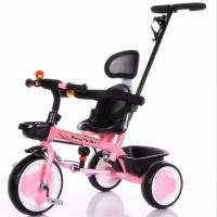 Best Hot Sell Children High Quality Baby Tricycle with pushbar pink color wholesale