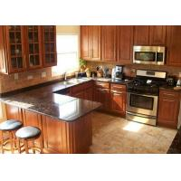 China Brown Natural Granite Stone Counter Top for Kitchen / Bathroom Cabinets on sale