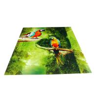 Best Parrot Pattern Green Plastic Commercial Ceiling Panels No Cracking wholesale