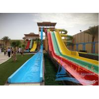 Best Aqua park equipment fiber glass water slide aqua park 12m height red wholesale