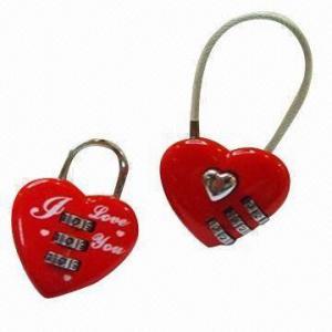 Best Combination locks in heart shape, made of zinc alloy wholesale