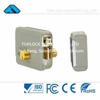 China 12V DC Electric Lock for Door Electric Rim Lock with Double-End for Left Open with Roll/Hock Latch on sale
