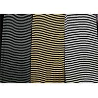 Best 100% Silk Knit Fabric Stripe Yarn Dyed Seamless Stretchable 120 G/Meter wholesale