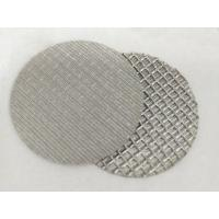 China Customized Stainless Steel Wire Filter Mesh , 1 10 Micron Sintered Filter Disc on sale