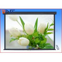China 200 Inch Motorized Projector Screen , High Gain Indoor Projector Screen on sale