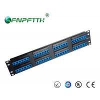 Best Metal Material 2U Cat6 Network Patch Panel 48 port UTP 19 inch wholesale
