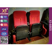 Best Dirty Proof Red Fabric Cinema Theater Chairs Seating With Foldable Seating Padding wholesale