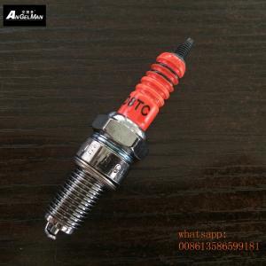 Best 125cc Motorcycle Spark Plugs Orange D8TC D8EA X4CC 0241145507 For BMW wholesale