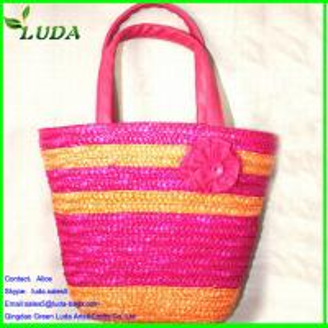 China Authentic wheat straw lady  handbags on sale