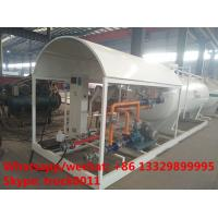 Best 2017S customized 8m3 4tons mobile skid lpg tank for sale,cheapest price skid lpg tank plant with single digital scale wholesale