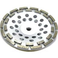 "Best 12 segment 7"" Inch Concrete and Stone grinding Double Row Diamond Cup Wheel wholesale"
