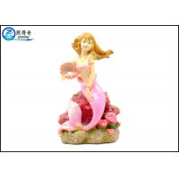 Best Pink Color Mermaid Aquarium Tank Decorations With Polyester Resin Material wholesale
