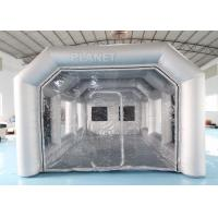 China 7x4x3m Carbon Filter Paint Inflatable Spray Booth Inflatable Tent For Car on sale