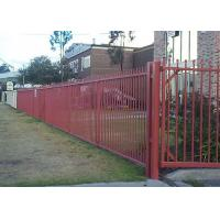 China Easily Assembled Zinc Steel Fence / Ornamental Tubular Steel Fence Panels on sale
