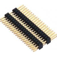 Best 1.27mm Pin Header Connector Dual Row Double Plastic PA9T Black Pcb Pin Connector wholesale