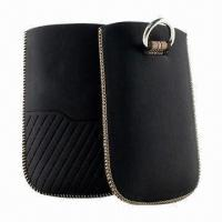 Best Mobile Phone Pouches for iPhone, Made of PU Leather Material with Retractable Pull-tab wholesale