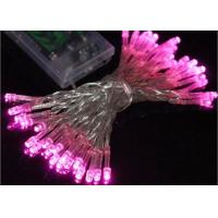 Best Waterproof Battery Operated Christmas String Lights 4.5 Volt Multicolor / Pink wholesale