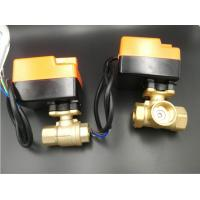 Best Efficient Brass Material Motorized Ball Valve For Fan Coil Units 2 Pipe System / 4 Pipe System wholesale