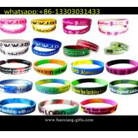 Best Hot Sale! No Minimum Custom Debossed and Ink Filled 1 Inch Silicone Wristband wholesale