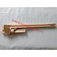 China Non Sparking Tools Pipe Wrench By Copper Beryllium 36 FM TUV GS Certificates on sale