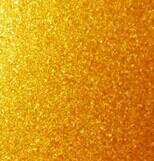 Shiny gold sparkle metallic powder coating