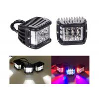 Buy cheap Three Side LED Work Light 4 Inch 4500LM Dual Color Offroad Fog Light With Flash from wholesalers