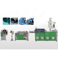China Single Wall PVC Plastic Corrugated Pipe Extrusion Line With Ring Groove Structure on sale