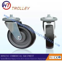 China Normal 5 inch TPR Shopping Trolley Spare Parts Ground Castor for Logistics on sale