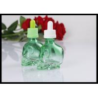 China 30ml Skull Shape Glass Dropper Bottle E Liquid E Juice Glass Bottle on sale