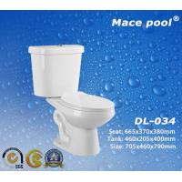 Best S-trap Siphonic Two-Piece Toilets Sanitary Wares for Bathroom (DL-034) wholesale