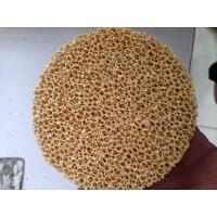 China Excellent Filtering Effect Silicon Carbide Ceramic Filter Improve Casting Performance on sale